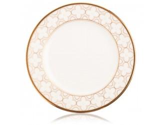 Тарелка десертная Noritake Трефолио золотой кант 16,5см