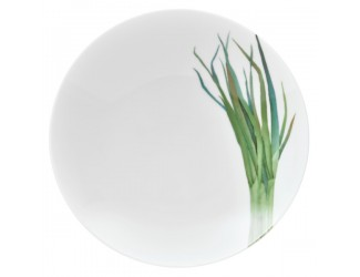 Тарелка для пасты Noritake Овощной букет Зелёный лук 23см