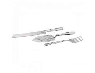 Набор для сервировки Queen Anne (лопатка, вилка, нож),сталь,посеребрение