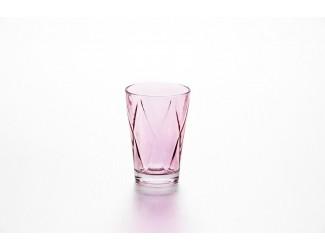 Набор стаканов 4шт 360мл Джой клетка розовый Soga Glass E43691Z
