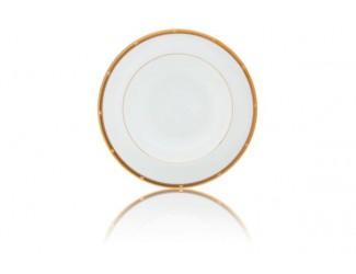 """Набор из 6 тарелок обеденных Noritake """"Рочель,золотой кант"""" 27см"""