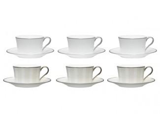 """Набор из 6 чашек чайных с блюдцами Noritake """"Брум-стрит"""""""