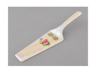 Лопатка для торта Leander Соната Цветы перламутр декор 0656