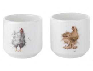 """Набор подставок для яиц Royal Worcester """"Забавная фауна Курицы"""" 5см, 2шт"""
