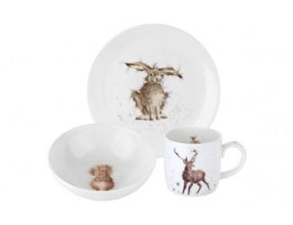 """Набор для завтрака Royal Worcester """"Забавная фауна"""" (тарелка 20см, салатник 15см, чашка 310мл)"""