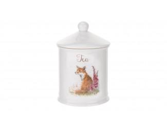 """Банка для чая с крышкой Royal Worcester """"Забавная фауна Лиса"""" 10х14,5см"""