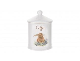 """Банка для кофе с крышкой Royal Worcester """"Забавная фауна Кролик"""" 10х14,5см"""