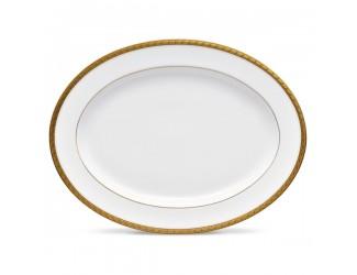 Блюдо овальное Noritake Шарлотта Голд 34,5см NOR1716-413