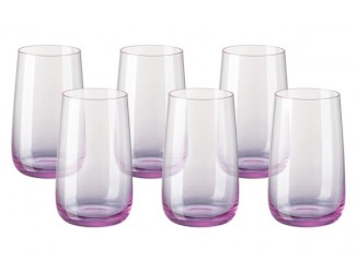 Набор бокалов для воды 6шт Rosenthal Турандот 400мл розовый RT69172-321587-40142-6