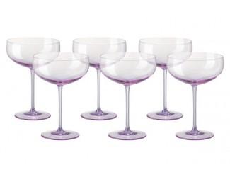 Набор креманок для шампанского Rosenthal Турандот 6шт 220мл розовый
