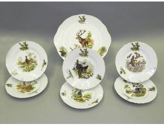Сервиз для торта 7 предметов Leander Мэри-Энн Охота декор 0363