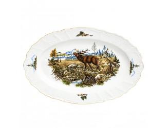 Блюдо овальное 36см Bernadotte Охота
