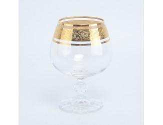 Набор бокалов для бренди Crystalex Bohemia Клаудиа Золото V-D 250 мл(6 шт)