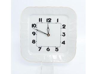 Часы квадратные Bernadotte Белый узор 26 см