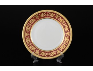 Набор тарелок 6шт 22см Falkenporzellan Donna bordeaux gold