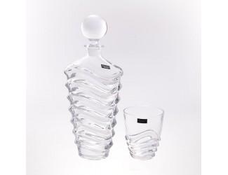 Набор для виски Crystalite Bohemia Wave 7 предметов