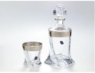 Набор для виски Bohemia Quadro 7 предметов 300мл, 800мл