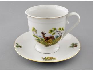 Чайная пара на 1 персону 2 предмета Leander Мэри-Энн Охота декор 0363