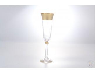 Анжела набор фужеров для шампанского AS Crystal Матовая полоса Анжела 190 мл (6 шт)