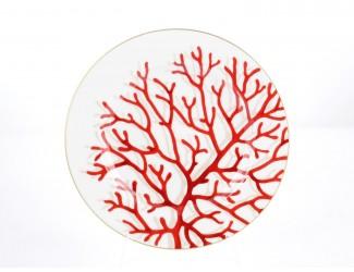 Набор тарелок 6шт 28см Falkenporzellan Corallo red Gold