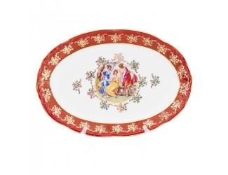 Блюдо овальное Фредерика Carlsbad Мадонна Красная 38см
