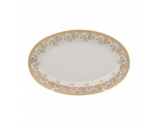 Блюдо овальное 24см Falkenporzellan Constanza cream - Sophie Gold