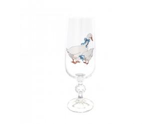 Набор фужеров для шампанского Клаудия AS Crystal Гуси 180 мл (6 шт)