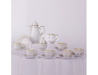 Кофейный сервиз на 6 персон 15 предметов Hollohaza Arrabona декор 1785