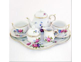 Кофейный сервиз тет-а-тет на 2 персоны 8 предметов Hollohaza Hajnalka декор 1803