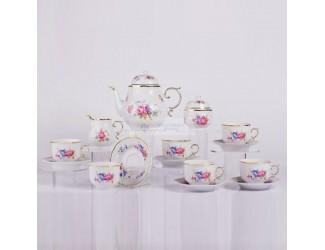 Чайный сервиз на 6 персон 15 предметов Hollohaza Hajnalka декор 1803