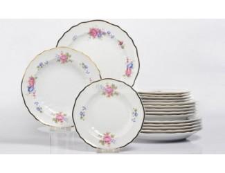 Набор тарелок 6шт 19см Hollohaza Hajnalka декор 1803