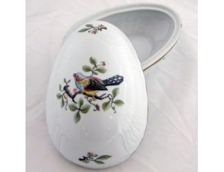 Бонбоньерка-яйцо 16см Hollohaza Birds декор 1932 ручная роспись