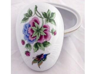 Бонбоньерка-яйцо 14см Hollohaza Hydrangea (Hortenzia) декор 2417