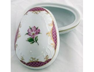 Бонбоньерка-яйцо 16см Hollohaza декор 2383