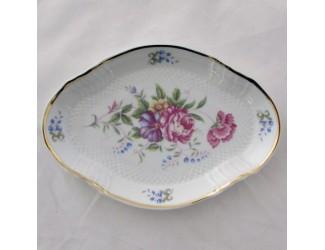 Тарелка овальная 19см Hollohaza Hajnalka декор 1803
