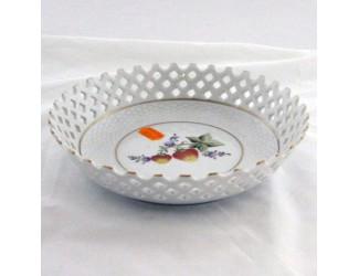 Тарелка прорезная 17см Hollohaza Sophiane декор 1789 ручная роспись