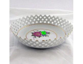 Тарелка прорезная 17см Hollohaza Hajnalka декор 1803