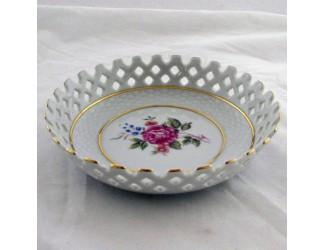 Тарелка прорезная 14см Hollohaza Hajnalka декор 1803