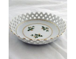 Тарелка прорезная 10см Hollohaza Erika декор 1945