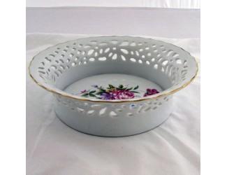 Тарелка прорезная 15см Hollohaza Hajnalka декор 1803