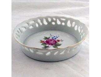 Тарелка прорезная 1см Hollohaza Hajnalka декор 1803