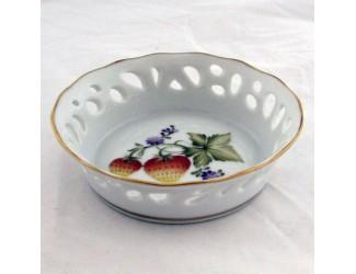 Тарелка прорезная 10см Hollohaza Sophiane декор 1789