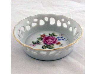 Тарелка прорезная 10см Hollohaza Hajnalka декор 1803