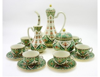 Кофейный сервиз на 6 персон 15 предметов предметов Zsolnay Персидский