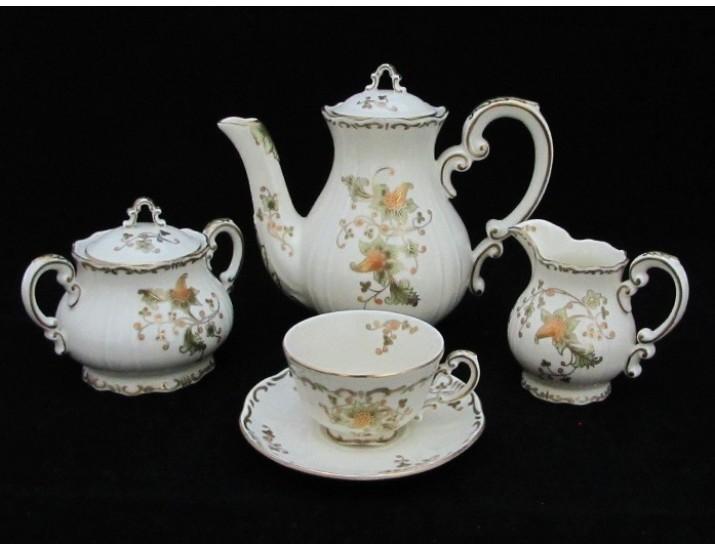 Кофейный сервиз 9 предметов Zsolnay Юбилейная коллекция 150