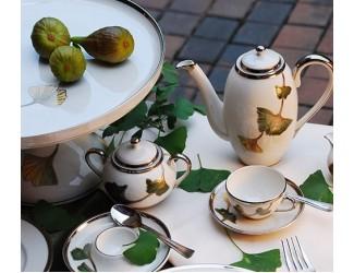 Кофейный сервиз на 6 персон 15 предметов Zsolnay Осень
