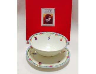 Набор 2 предмета салатник 18см+тарелка20см Japonica Alice(Алиса) голубой 20847BK