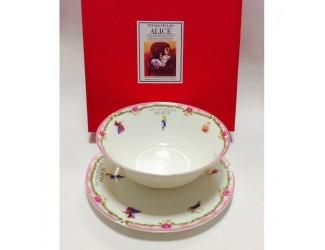 Набор 2 предмета салатник 18см+тарелка20см Japonica Alice(Алиса) розовый 20848PK