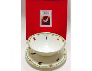Набор 2 предмета салатник 18см+тарелка20см Japonica Alice(Алиса) зелёный 20849GK