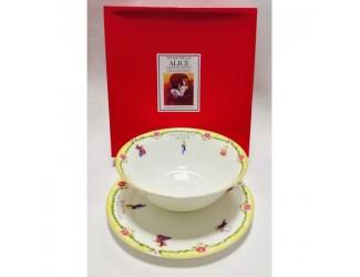 Набор 2 предмета салатник 18см+тарелка20см Japonica Alice(Алиса) жёлтый 20850YK